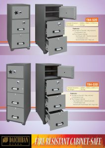 Fire Proof Filing Cabinet Safe Daichiban